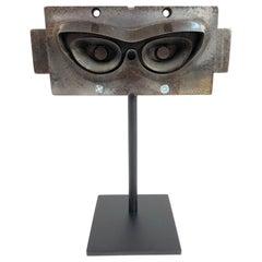 Antique Industrial Steel Ladies Eyeglass Mold, Circa 1965