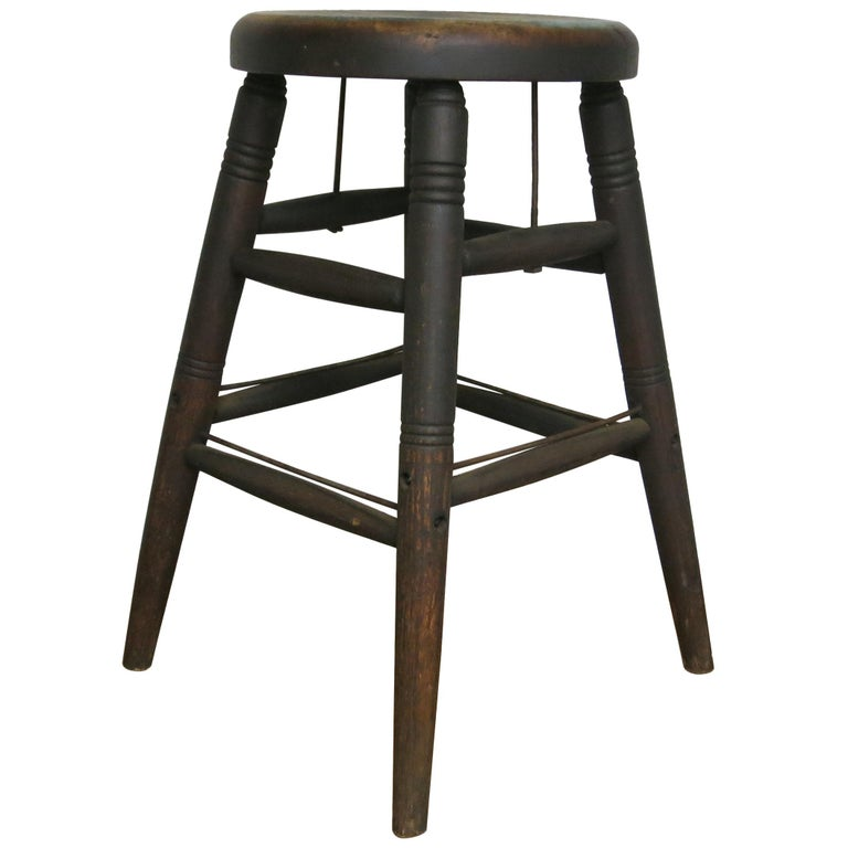 Antique Industrial Stool S Bent And Brothers Wooden Stool For Sale