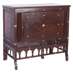Antique Inlaid Cabinet and Blanket Chest