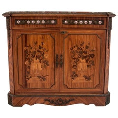 Antique Inlaid Chest of Drawers after Renovation