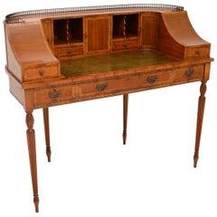 Antique Inlaid Mahogany Carlton House Desk
