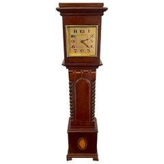 Antique Inlaid Mahogany Miniature Grandfather Clock