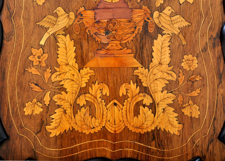 Antique Inlaid Marquetry Dutch Two-Piece Corner Cabinet, circa 1830 For Sale 5