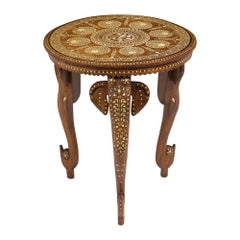 Antique Inlaid Syrian Side Table