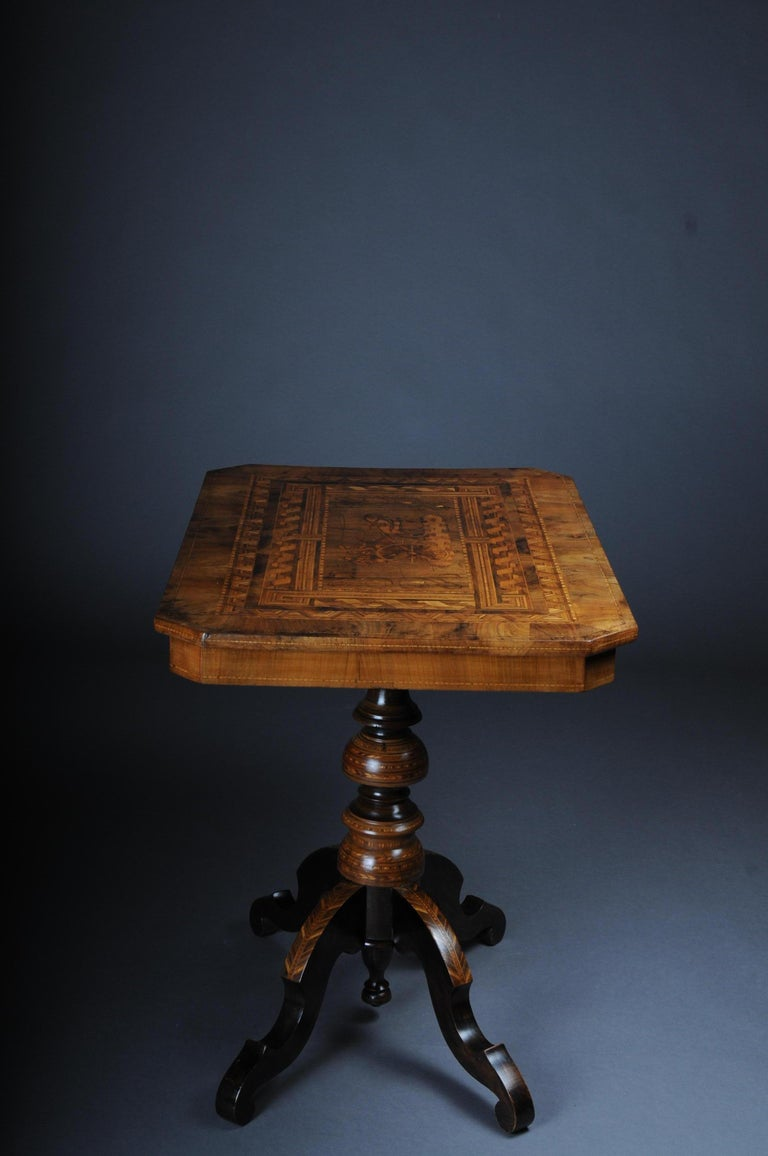 Antique Inlaid Table South German / Italy, circa 1845 For Sale 5