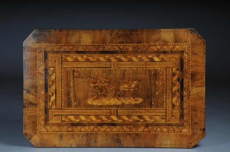 Antique Inlaid Table South German / Italy, circa 1845 For Sale 7