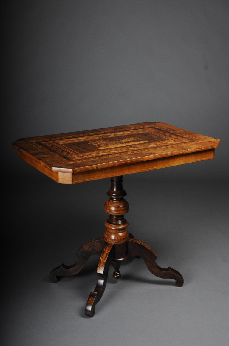 19th Century Antique Inlaid Table South German / Italy, circa 1845 For Sale