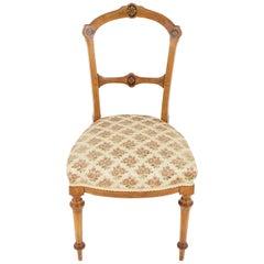Antique Inlaid Walnut Occasional Chair, Antique Furniture, Scotland 1890, B2286