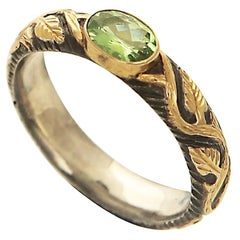 Antique Inspired Peridot Ring