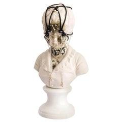 Antique Intervened Porcelain Bust, Untitled #9. Los Infortunios de la Verdad