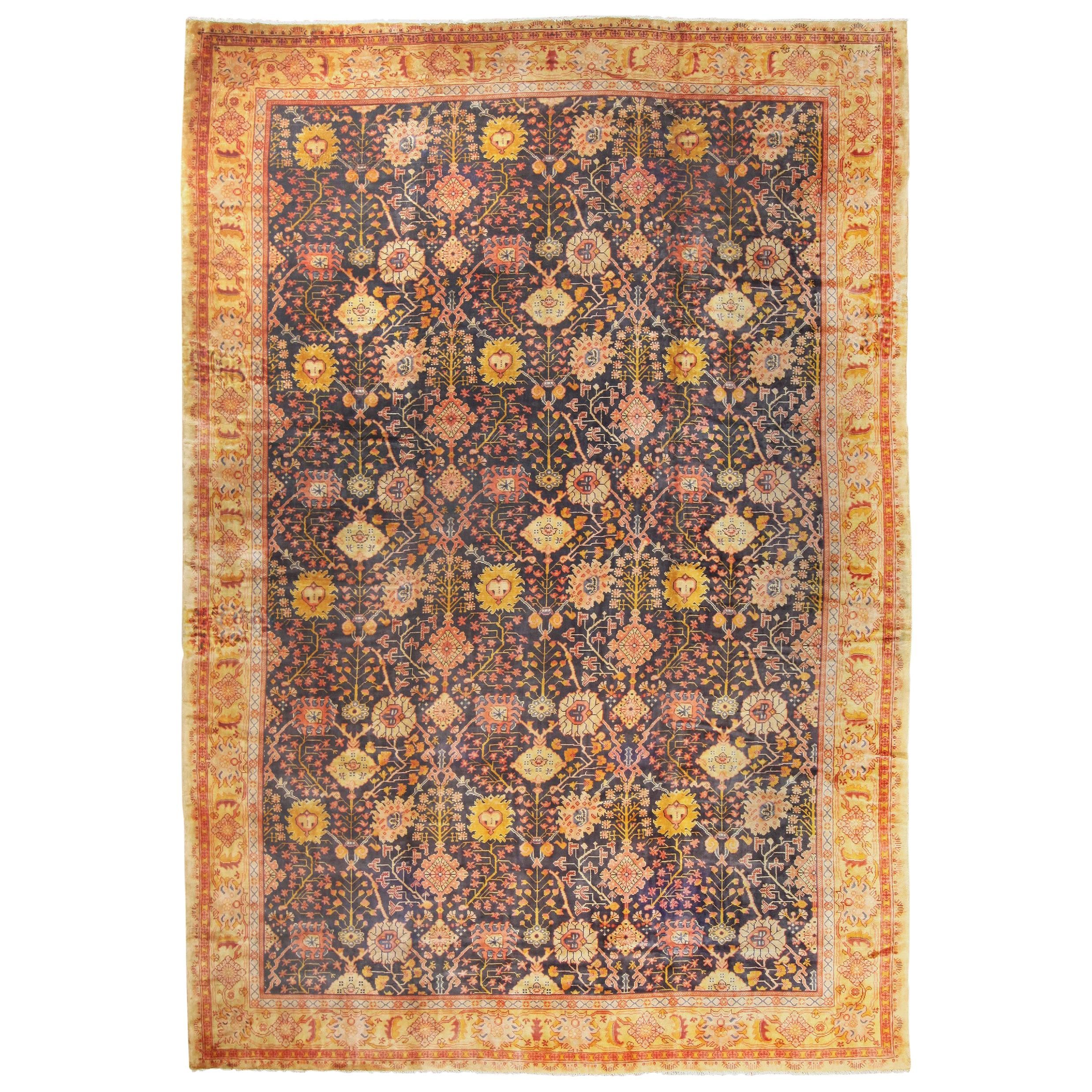 Antique Irish Arts & Crafts Rug. Size: 14 ft x 20 ft 6 in (4.27 m x 6.25 m)