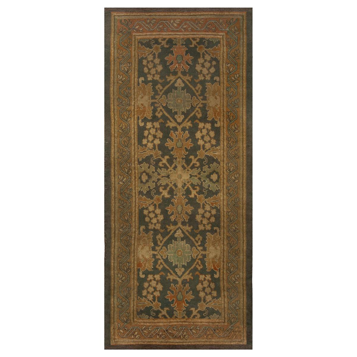 Antique Irish Donegal Runner Rug