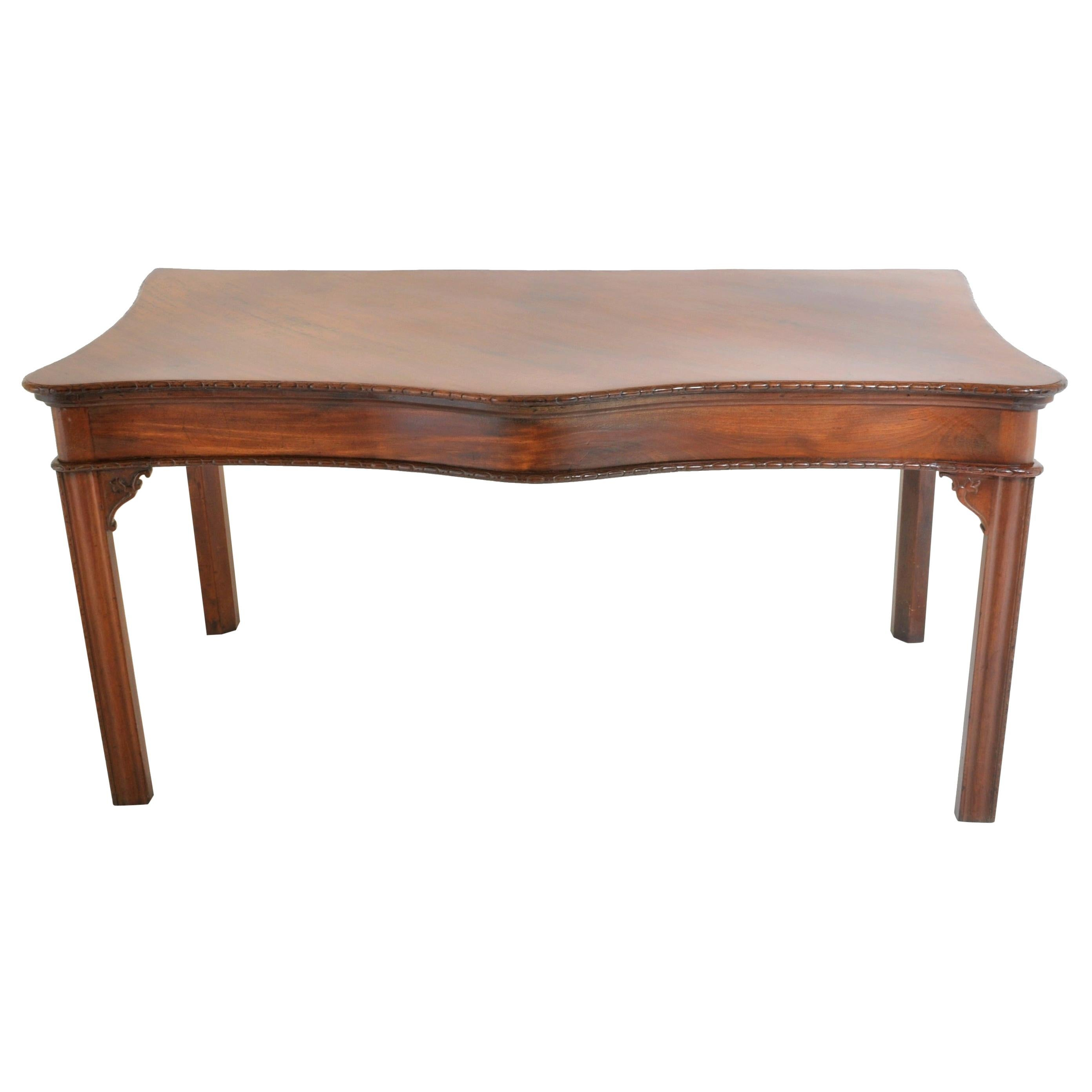 Antique Irish George III Chippendale Mahogany Serving Table/Sideboard