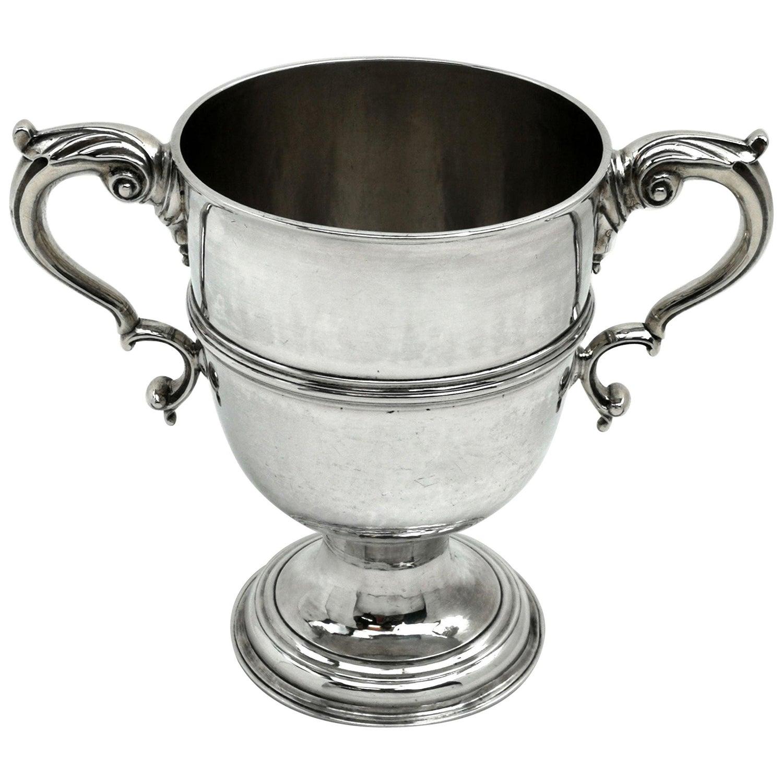 Antique Irish George III Georgian Silver Loving Cup / Goblet Cork Ireland