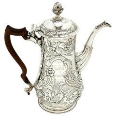 Antique Irish George III Silver Coffee Pot c. 1769 Dublin Ireland