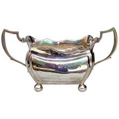 Antique Irish Georgian Dublin Sterling Silver Sugar Bowl Edward Doyle