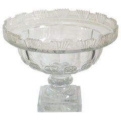 Antique Irish Large Clear Cut Crystal Bowl
