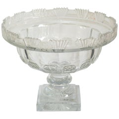 Antique Irish Large Cut Crystal Bowl