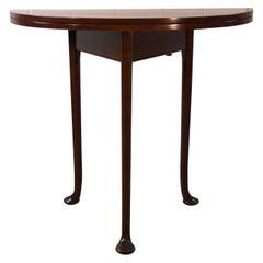Antique Irish Mahogany Game Demilune Side Table