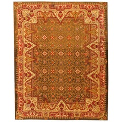 Antique Irish Rug. Size: 6 ft 9 in x 8 ft 6 in (2.06 m x 2.59 m)