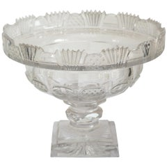 Antique Irish Small Cut Crystal Bowl