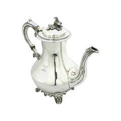 Antique Irish Sterling Silver Coffee Pot