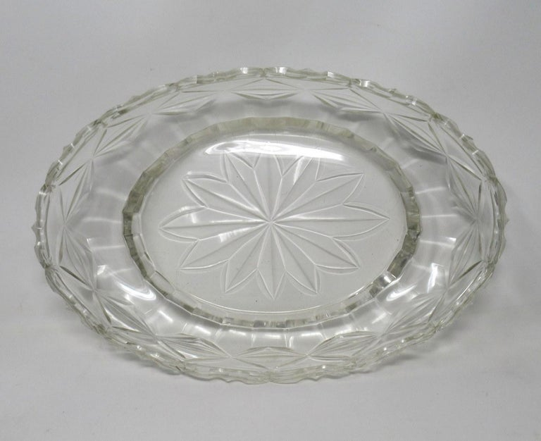 Antique Irish Tipperary Waterford Glass Cut Crystal Bowl Georgian Centerpiece For Sale 2