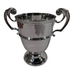 Antique Irish Victorian Sterling Silver Classical Urn Trophy Cup