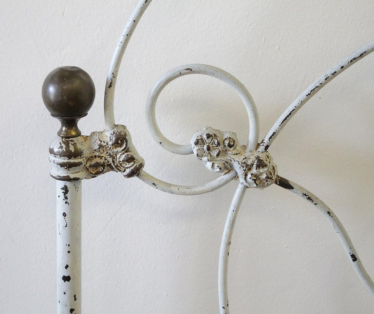 Antique Iron Bed Full Size For Sale At 1stdibs