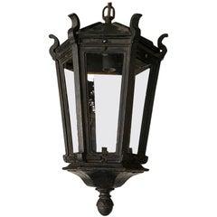 Antique Iron Exterior or Interior Hanging Lantern
