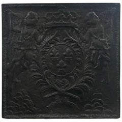Antique Iron Fireback, circa 1750