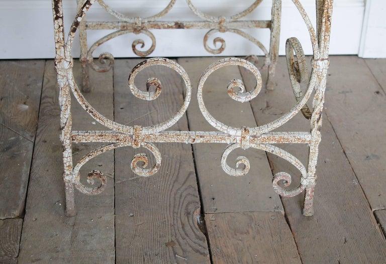 Antique Iron Garden Armchair For Sale 2