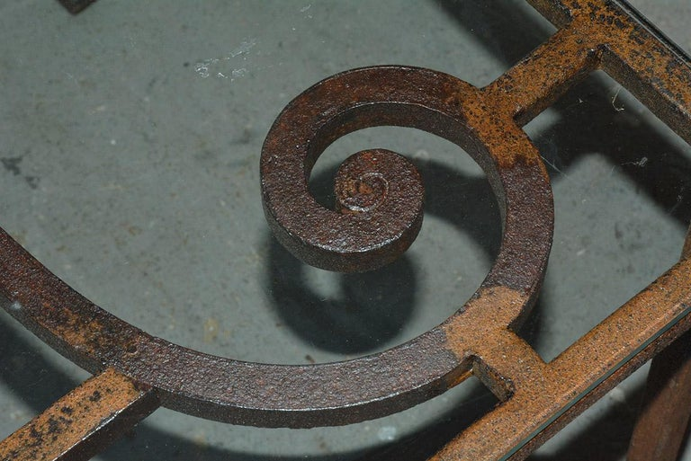 Antique Iron Garden Gate Coffee Table For Sale 3