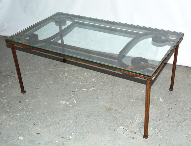 American Antique Iron Garden Gate Coffee Table For Sale