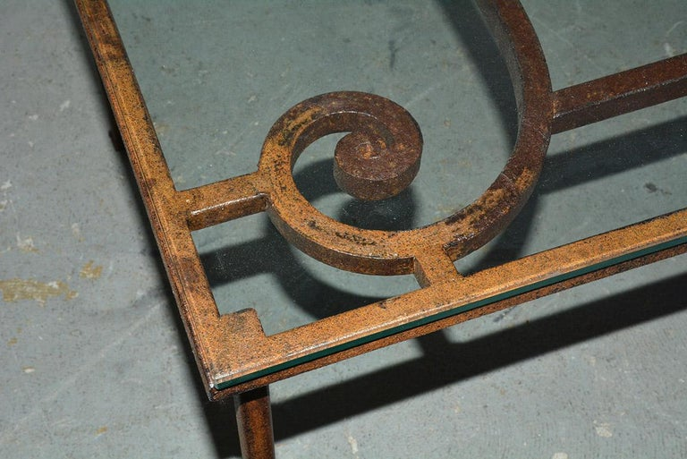 20th Century Antique Iron Garden Gate Coffee Table For Sale