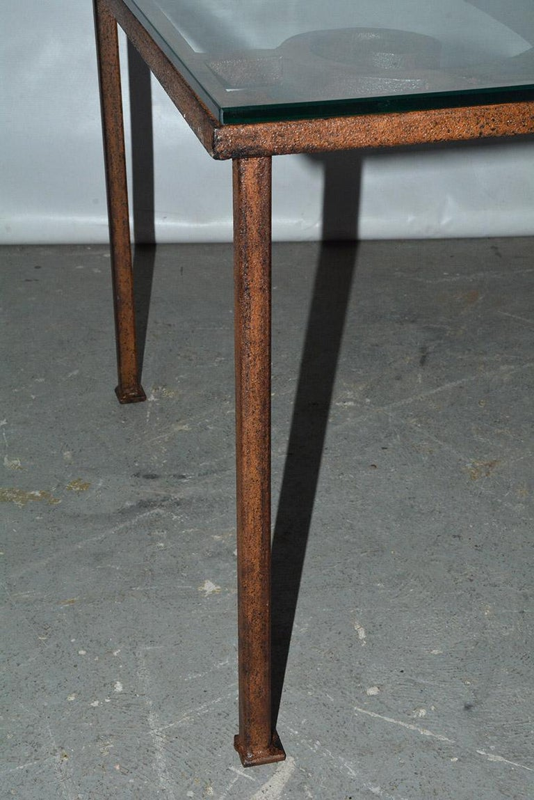 Antique Iron Garden Gate Coffee Table For Sale 1