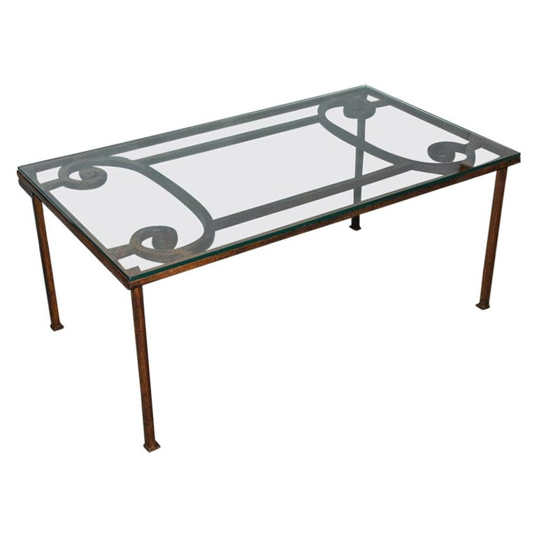 Antique Iron Garden Gate Coffee Table For Sale