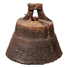 Antique Iron Temple Bell