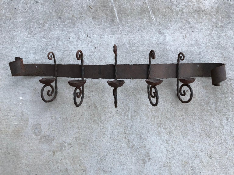 Antique Iron Wall Sconce For Sale 8