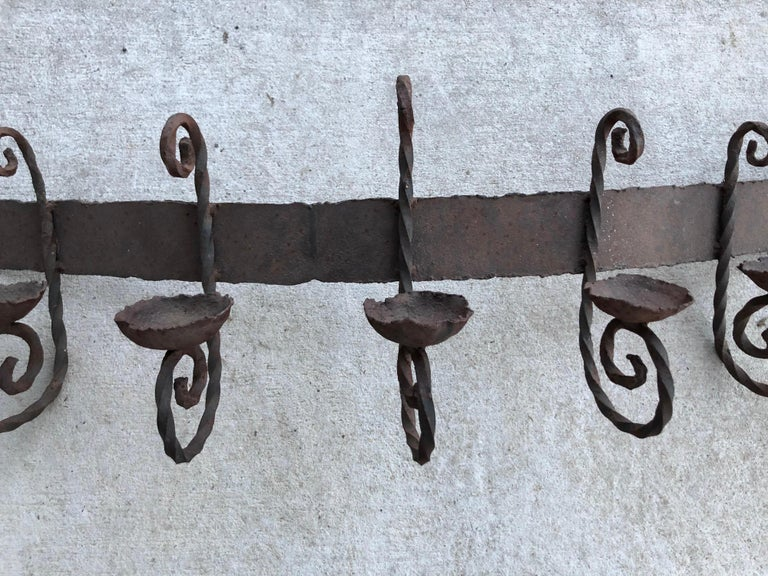 Antique Iron Wall Sconce For Sale 1