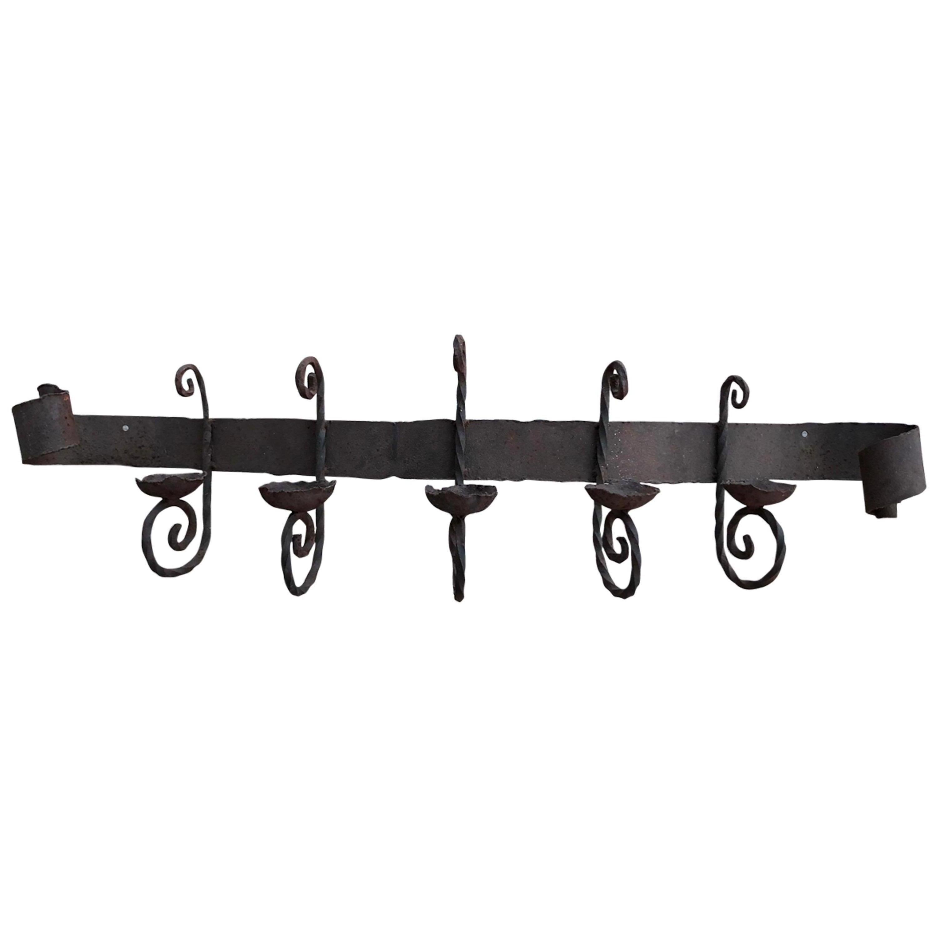 Antique Iron Wall Sconce