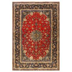 Antique Isfahan Silk Rug