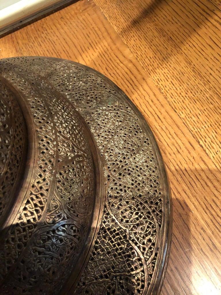 Antique Moorish Brass Candleholder Floor Lamp For Sale 5
