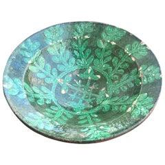 Antique Islamic Kashan Persian 13th Century Turquoise Glazed Pottery Bowl