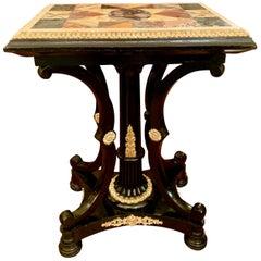 Antique Italian 19th Century Marble-Top Specimen Table