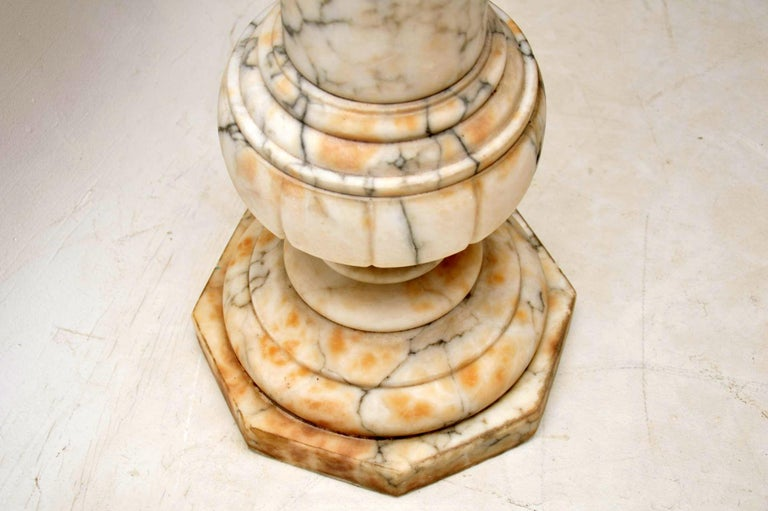 Edwardian Antique Italian Alabaster Column For Sale