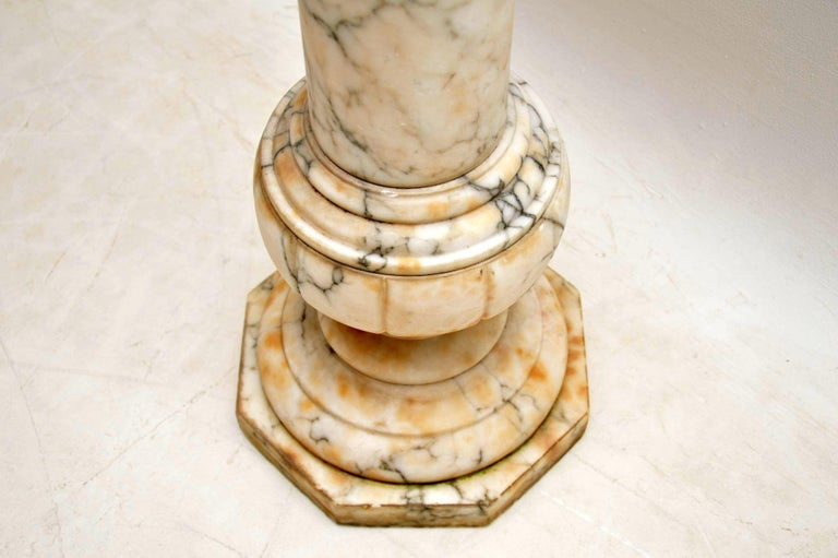 Antique Italian Alabaster Column In Good Condition For Sale In London, GB
