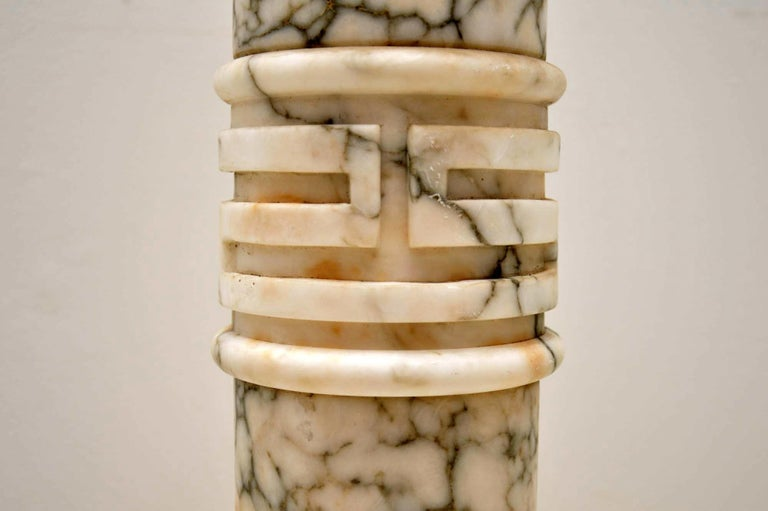 Early 20th Century Antique Italian Alabaster Column For Sale