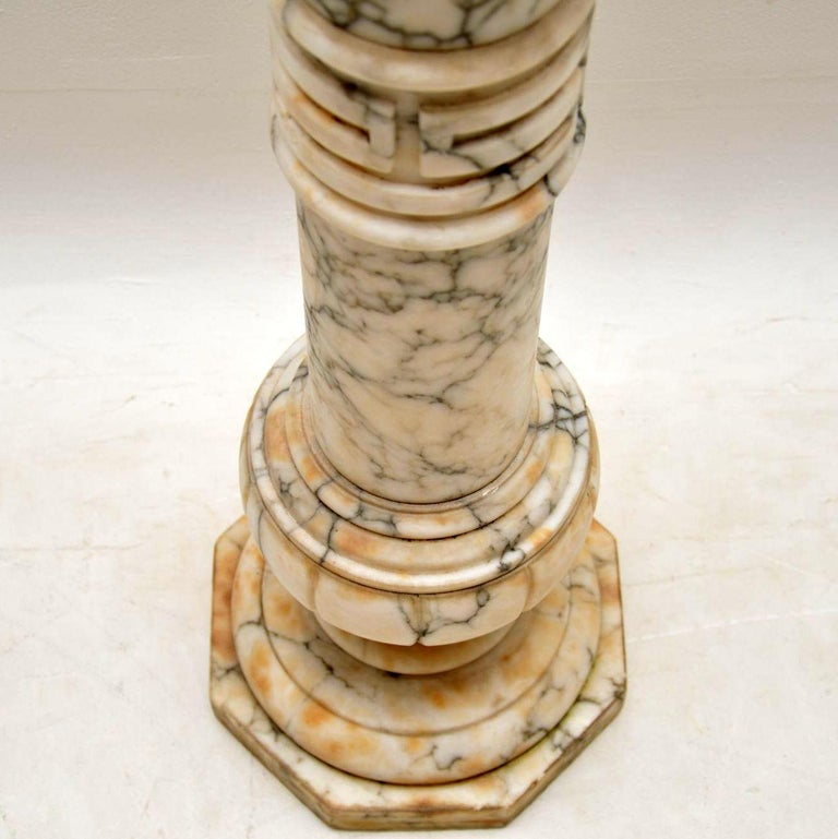 Antique Italian Alabaster Column For Sale 1