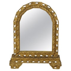 Antique Italian Arched Table Mirror
